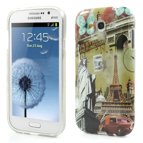 Bracevor Eiffel Tower Design TPU Back Case Cover for Samsung Galaxy Grand Duos