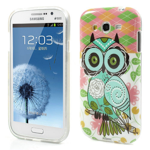 Bracevor Trendy Owl Design TPU Back Case Cover for Samsung Galaxy Grand Duos
