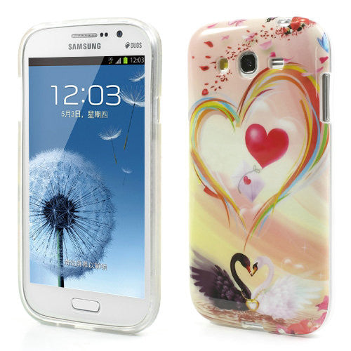 Bracevor Trendy Swan Design TPU Back Case Cover for Samsung Galaxy Grand Duos
