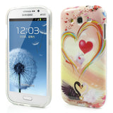 Trendy Swan Design TPU Back Case Cover for Samsung Galaxy Grand Duos