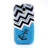 Chevron Stripe Design TPU Back Case Cover for Samsung Galaxy S4 mini
