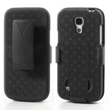 Holster Combo with Kick Stand Hard Case for Samsung Galaxy S4 mini - Black