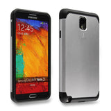Dazzling Silver Tough Armor Back Case for Samsung Galaxy Note 3