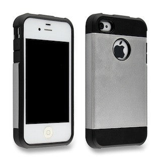 Dazzling Silver Tough Armor Apple iPhone 4 4s 4g Back Case
