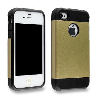 Champagne Gold Tough Armor Apple iPhone 4 4s 4g Back Case