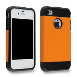 Flaming Orange Tough Armor Apple iPhone 4 4s 4g Back Case