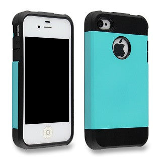 Turquoise Blue Tough Armor Apple iPhone 4 4s 4g Back Case