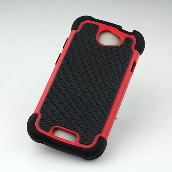 Triple Layer Defender Back Case for HTC One S