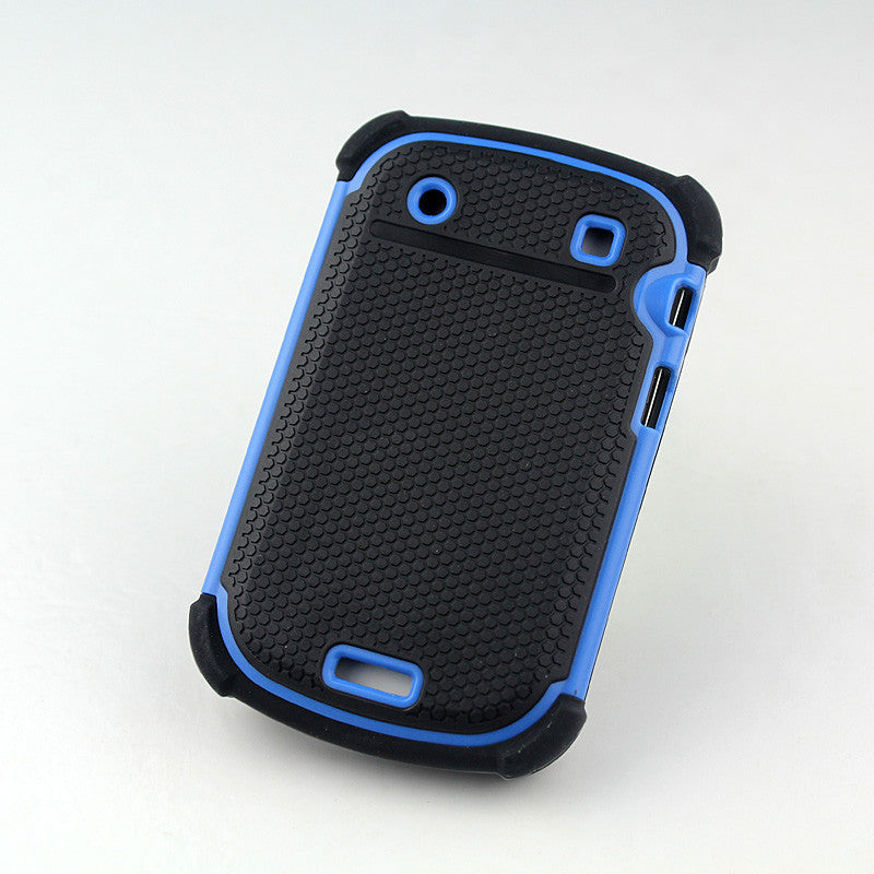 Bracevor Triple Defender Back Case Cover for Blackberry Bold Touch 9930 9900 - Blue