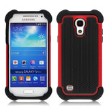 Triple Layer Defender Back Case for Samsung Galaxy S4 mini - Red