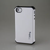 White Super Hybrid 2 in 1 Back Case for Apple iPhone 4 4s
