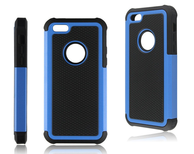 Bracevor Triple Layer Defender Hybrid Back Case Cover for Apple iPhone 5c - Blue