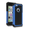 Bracevor Triple Layer Defender Hybrid Back Case Cover for Apple iPhone 5c - Blue 2