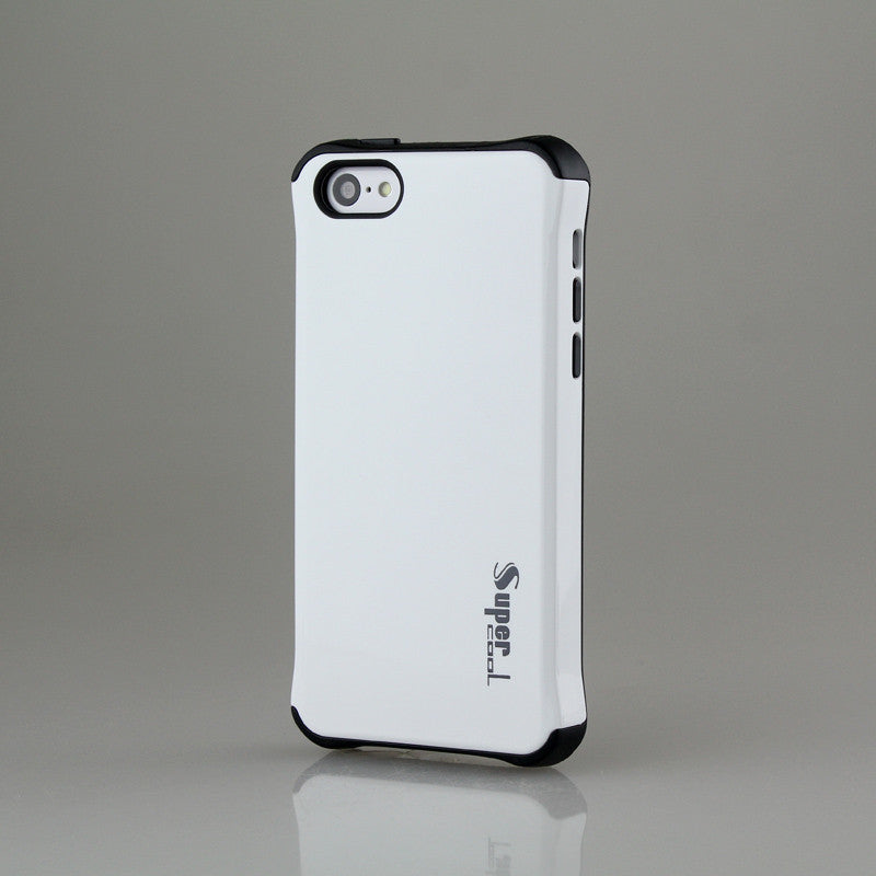 Super Hybrid 2 in 1 Back Case for Apple iPhone 5c - White