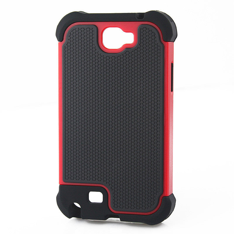 Bracevor Triple Layer Defender Back Case Cover for Samsung Galaxy Note 2 N7100 - Red