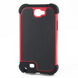 Triple Layer Defender Back Case for Samsung Galaxy Note 2 N7100 - Red