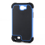 Triple Layer Defender Back Case for Samsung Galaxy Note 2 N7100 - Blue