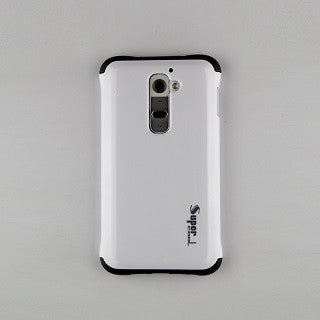 Classic White Super Hybrid 2 in 1 Back Case for LG G2