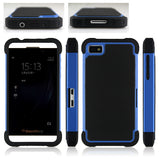 Triple Layer Defender Back Case for Blackberry Z10 - Blue