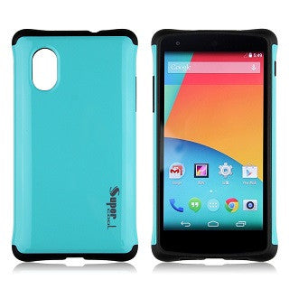 Blue Super Hybrid 2 in 1 Back Case for LG Google Nexus 5