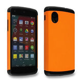 Flaming Orange Tough Armor Back Case for LG Google Nexus 5