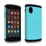 Turquoise Blue Tough Armor Back Case for LG Google Nexus 5