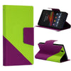 Bracevor Dual color Wallet Stand Leather Case for Sony Xperia Z L36H Green1