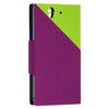 Bracevor Dual color Wallet Stand Leather Case for Sony Xperia Z L36H Green2