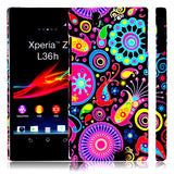 Elegant Circles Design Hard Back case for Sony Xperia Z L36H