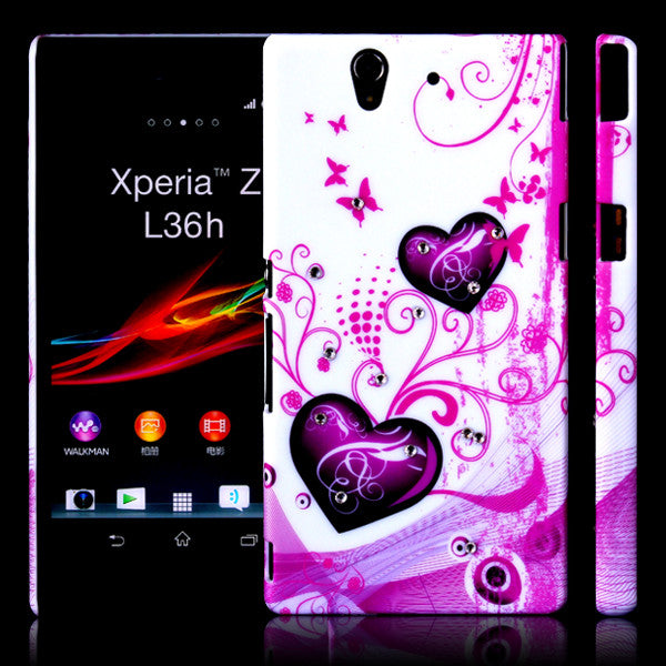 Bracevor Elegant Heart Design Back case for Sony Xperia Z L36H