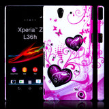 Elegant Heart Design Hard Back case for Sony Xperia Z L36H