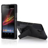 2 in 1 Hybrid Kickstand Back case for Sony Xperia Z L36H - Black