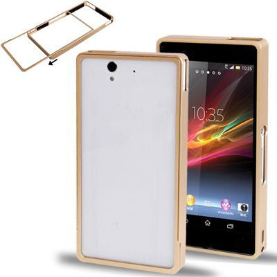 Bracevor Removable Metal Bumper Case for Sony Xperia Z L36H (Gold)