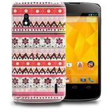 Aztec Art Design (Lace) Hard Back Case Cover for LG Google Nexus 4