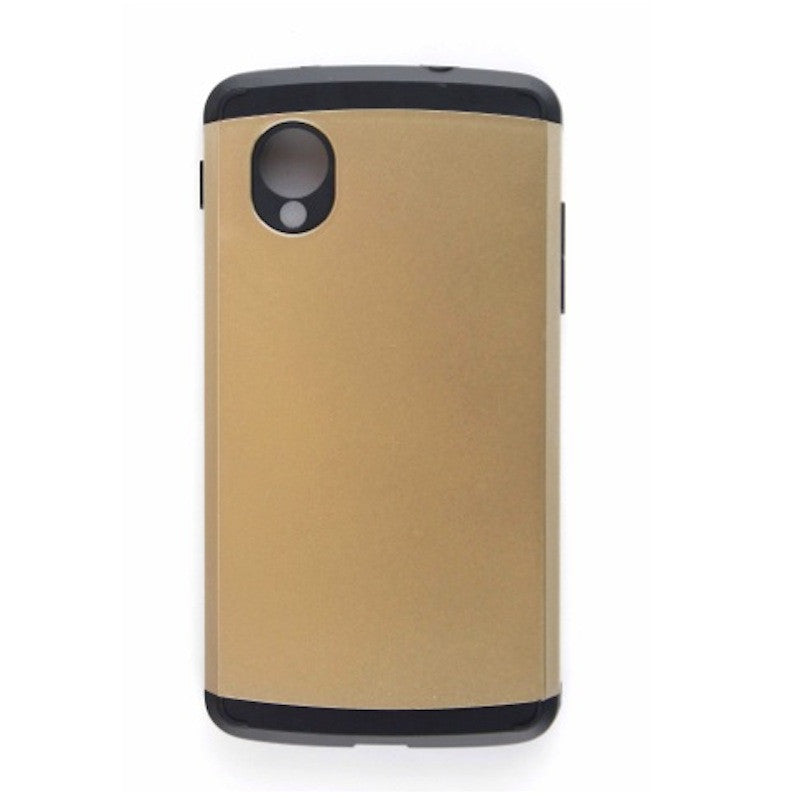 Champagne Gold Tough Armor Back Case for LG Google Nexus 5