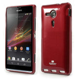Bracevor Mercury Jelly Glitter TPU Gel Case for Sony Xperia SP (Red)