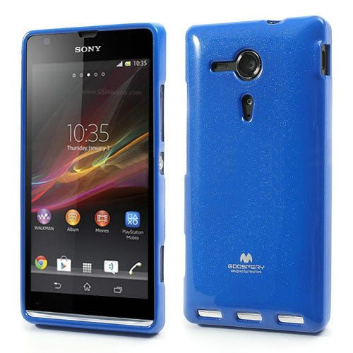 Bracevor Mercury Jelly Glitter TPU Gel Case for Sony Xperia SP (Blue)