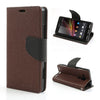 Mercury Goospery Fancy Diary Leather Case Cover for Sony Xperia SP - Brown