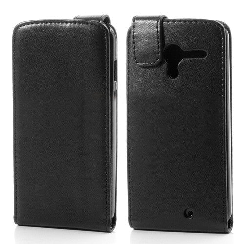 Bracevor Magnetic Leather Vertical  Flip Case Cover for Motorola Moto X - Black