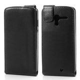 Magnetic Leather Vertical  Flip Case for Motorola Moto X - Black