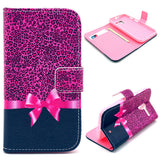 Rose Bowknot Wallet Leather Flip Case for Motorola Moto X