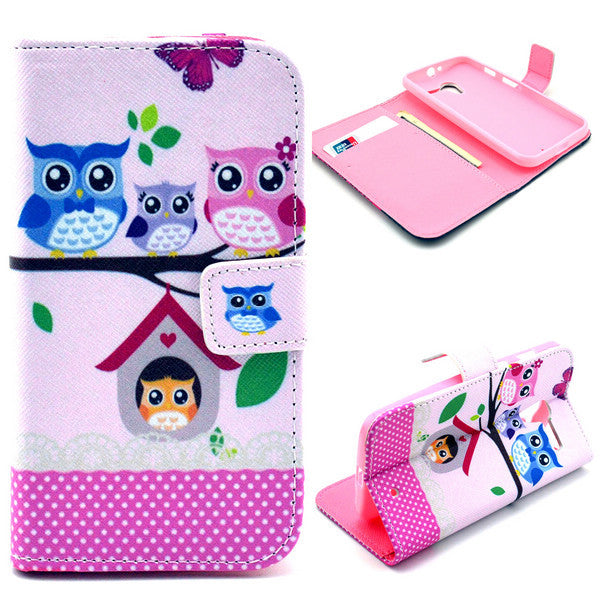Bracevor Treehouse Owl Design Wallet Leather Flip Case for Motorola Moto X