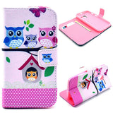 Treehouse Owl Design Wallet Leather Flip Case for Motorola Moto X