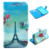 Eiffel Tower Design Wallet Leather Flip Case for Motorola Moto X