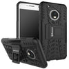 Shockproof Motorola Moto G5 [5 inch] Hybrid Kickstand Back Case Defender Cover - Black