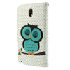 Bracevor Sleepy Owl Design Wallet Leather Stand Case Cover for Samsung Galaxy Note 3 Neo2
