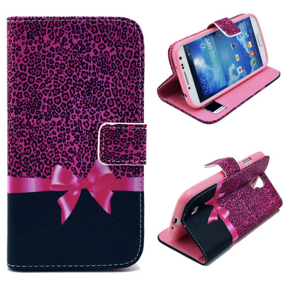Bracevor Rose Bowknot Wallet Leather Flip Case Cover for Samsung Galaxy Note 3 Neo