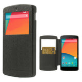 Mercury Wow Bumper Hybrid View Case for LG Google Nexus 5 D820 D821 - Black