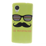 Bracevor Moustache Design Hard Back Case for LG Google Nexus 5