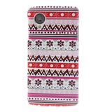 Aztec Art Design (Snow flakes) Hard Back Case Cover for LG Google Nexus 5